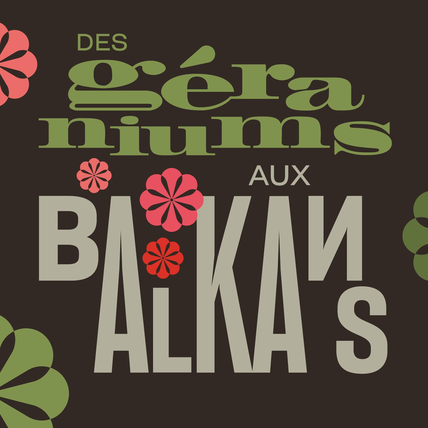 """Logo carré """"Des géraniums aux Balkans"""". [RTS]"""