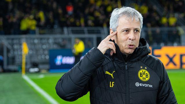 Lucien Favre et Dortmund auront fort à faire en 8es de finale. [Guido Kirchner - Keystone]