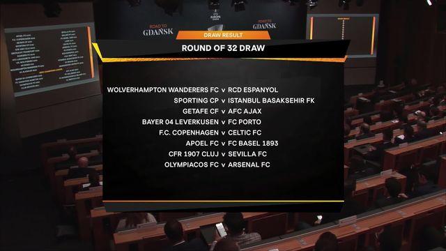Tirage au sort: le tableau complet des 1-16 de finale [RTS]