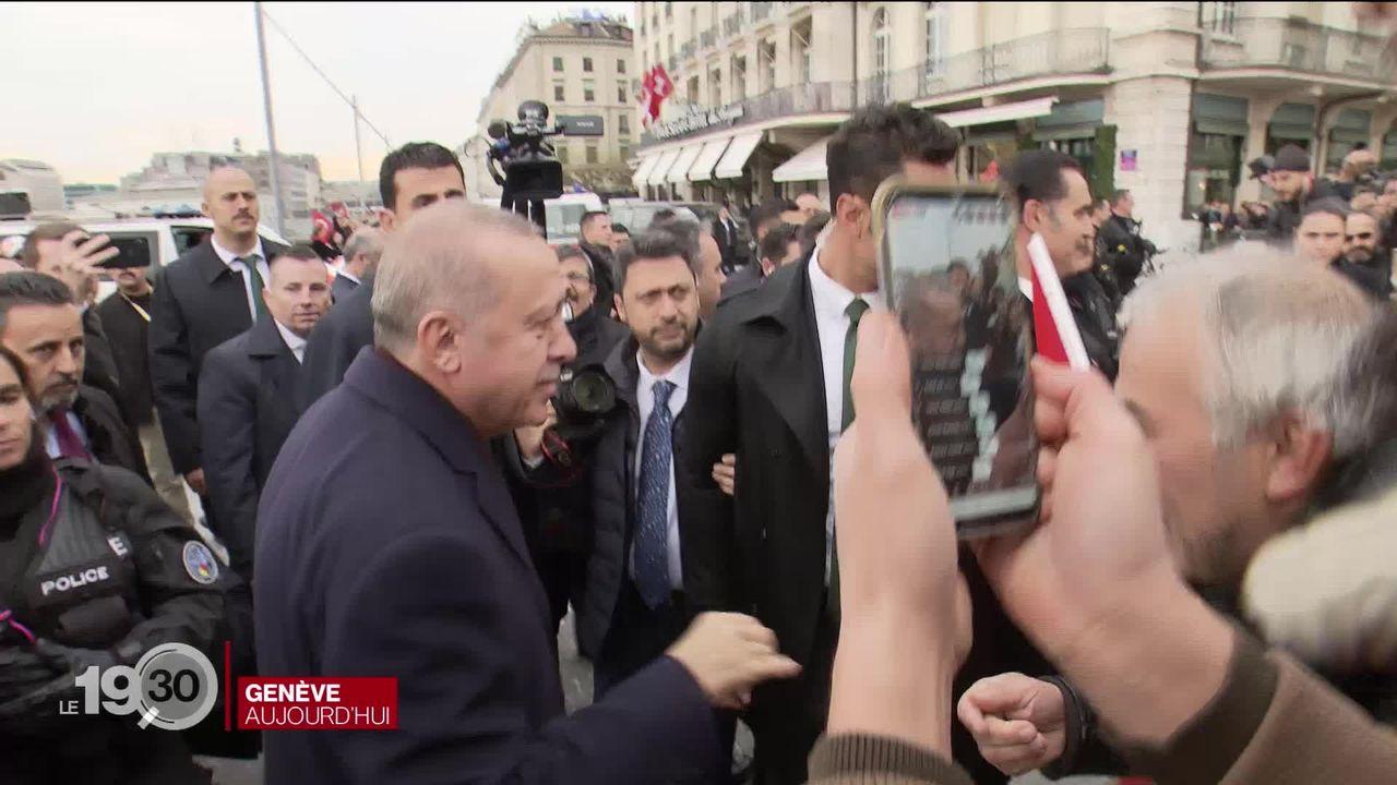 Le Président turc Recep Tayyip Erdogan est arrivé à Genève pour participer au sommet mondial sur les réfugiés [RTS]