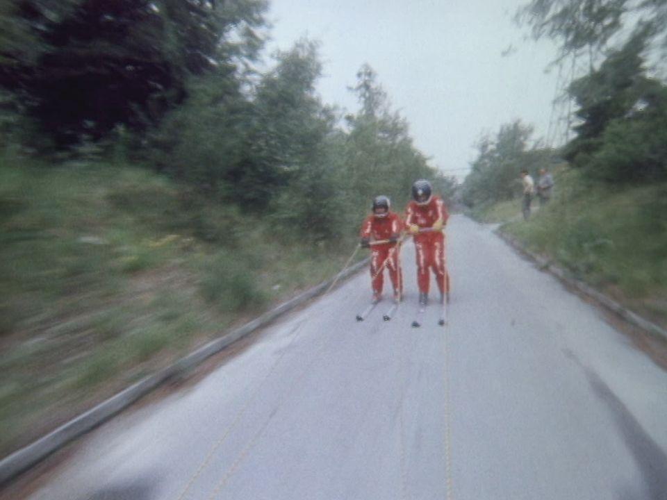 Ski sur route en 1979. [RTS]