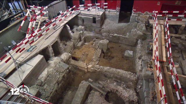 Fouilles archéologiques dans les sous-sols du cinéma Capitole à Berne [RTS]