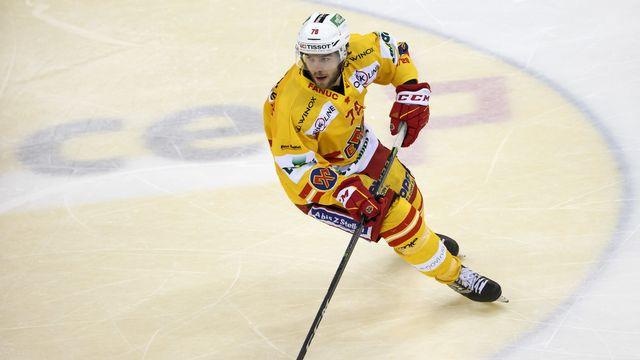 Marc Antoine Pouliot a été touché aux ligaments du genou. [Salvatore Di Nolfi - Keystone]