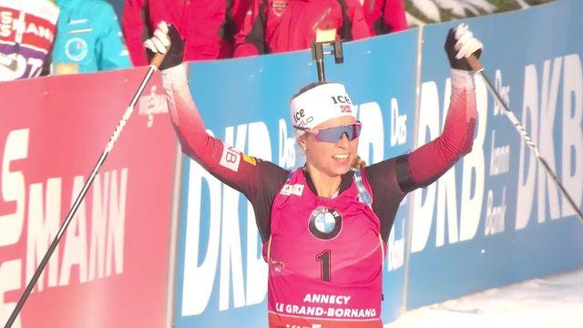 Annecy-Le Grand Bornand (FRA), poursuite dames: la Novégienne Tiril Eckhoff remporte la course [RTS]