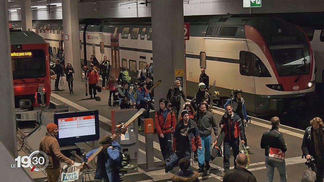 L'objectif est d'éliminer le maximum de désagréments entre le quai de gare et les pistes. [RTS]