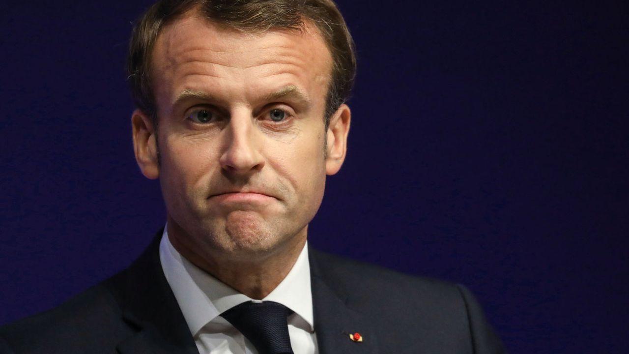 Emmanuel Macron craint pour la survivance de l'Union européenne. [Ludovic Marin - Pool/EPA/Keystone]