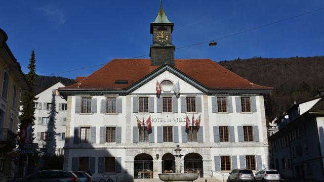 L'Hôtel de Ville de Moutier. [Gaël Klein - RTS]