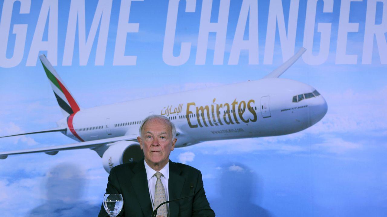 Tim Clark, le futur ex-patron d'Emirates. [AP Photo/Kamran Jebreili - Keystone]