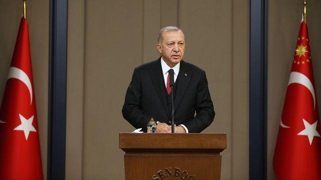 Le président turc Recep Tayyip Erdogan. [Turkish President Office - EPA/Keystone]