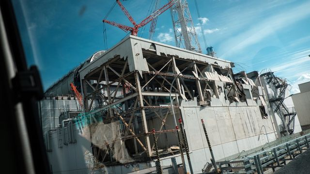 Une image du réacteur 3 de la centrale de Fukushima Daiichi, le 19 février 2018. [Nicolas Datiche - Keystone/epa]