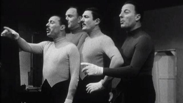 Les Frères Jacques en répétition en 1965. [RTS]