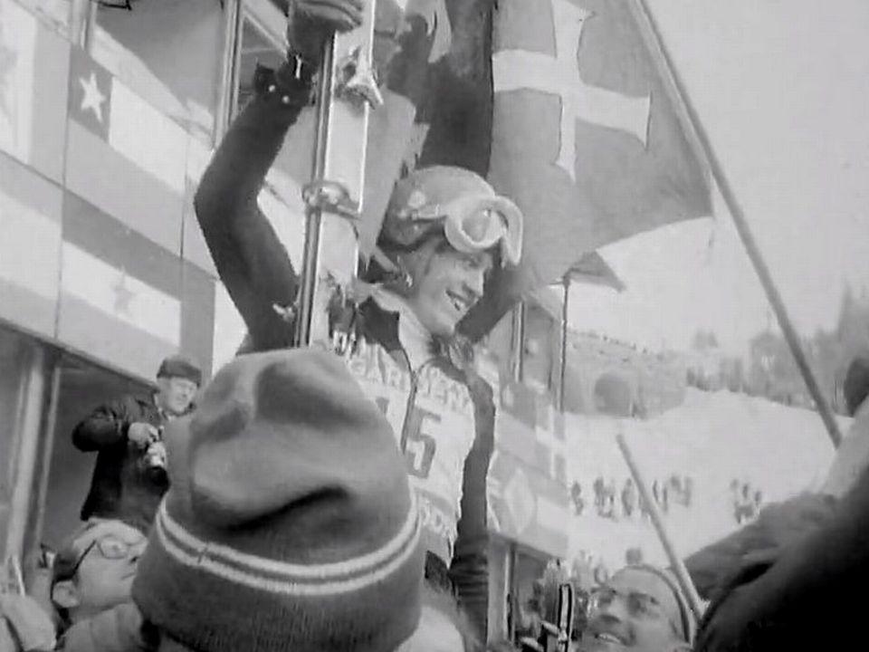 Bernard Russi, le skieur d'Andermatt est champion du monde de descente en 1970. [RTS]