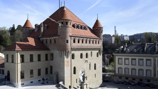 Le château Saint-Maire à Lausanne, siège du gouvernement du canton de Vaud. [Laurent Gillieron - Keystone]