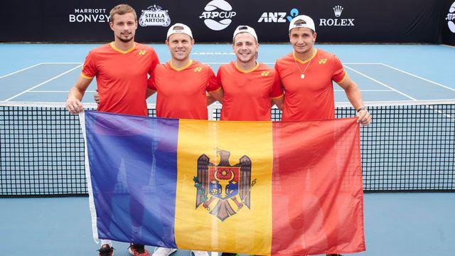 L'équipe de la Moldavie est l'une des dernières équipes à s'être qualifiée pour l'ATP Cup. [Twitter BBCsport - SRI]