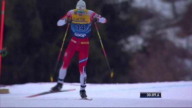 Val di Fiemme (ITA), départ en ligne messieurs: victoire du Norvégien S. h. Krueger, Cologna (SUI) termine 7e [RTS]