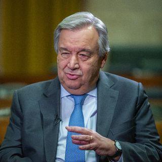 António Guterres, Secrétaire général des Nations unies, au Palais des Nations de Genève, le 16 décembre 2019. [Laurent Bleuze - RTS]