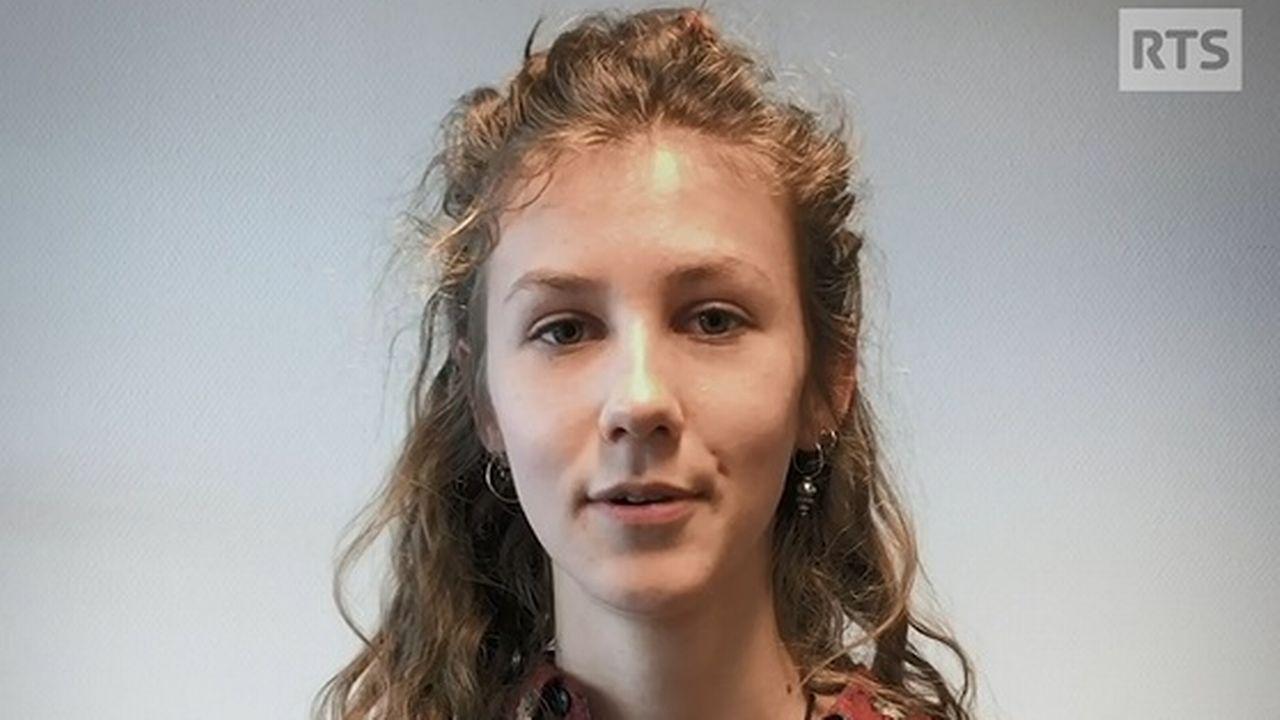 Juliette Vernier, candidate de la Grève du climat à l'élection complémentaire au Conseil d'Etat vaudois. [RTS]