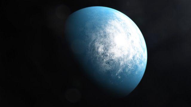 """Une illustration artistique de la planète """"TOI 700 d"""", découverte par la NASA. [NASA - AFP]"""