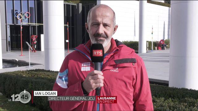 Interview Ian Logan, directeur JOJ sur l'enneigement et le déroulement des compétitions. [RTS]