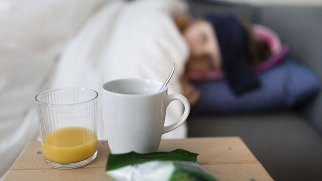 La grippe est toujours sous le seuil épidémique. [Gaetan Bally - Keystone]