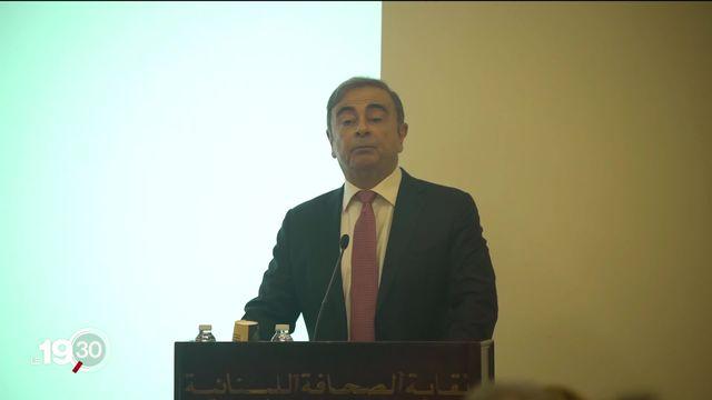 Carlos Ghosn, ancien patron du groupe Nissan Renault, défie la justice japonaise depuis Beyrouth. [RTS]