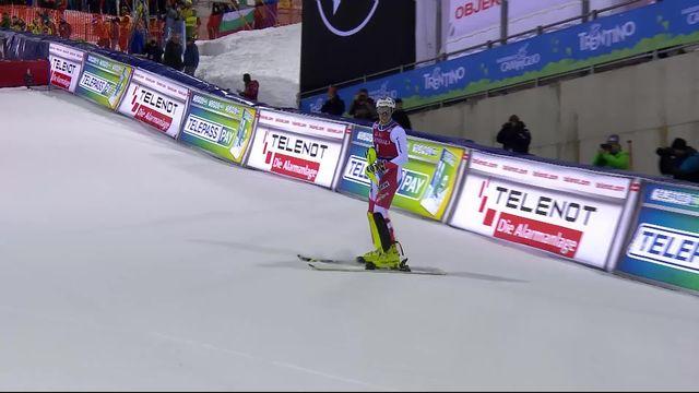 Madonna di Campiglio (ITA), slalom messieurs 2e manche: Daniel Yule (SUI) [RTS]