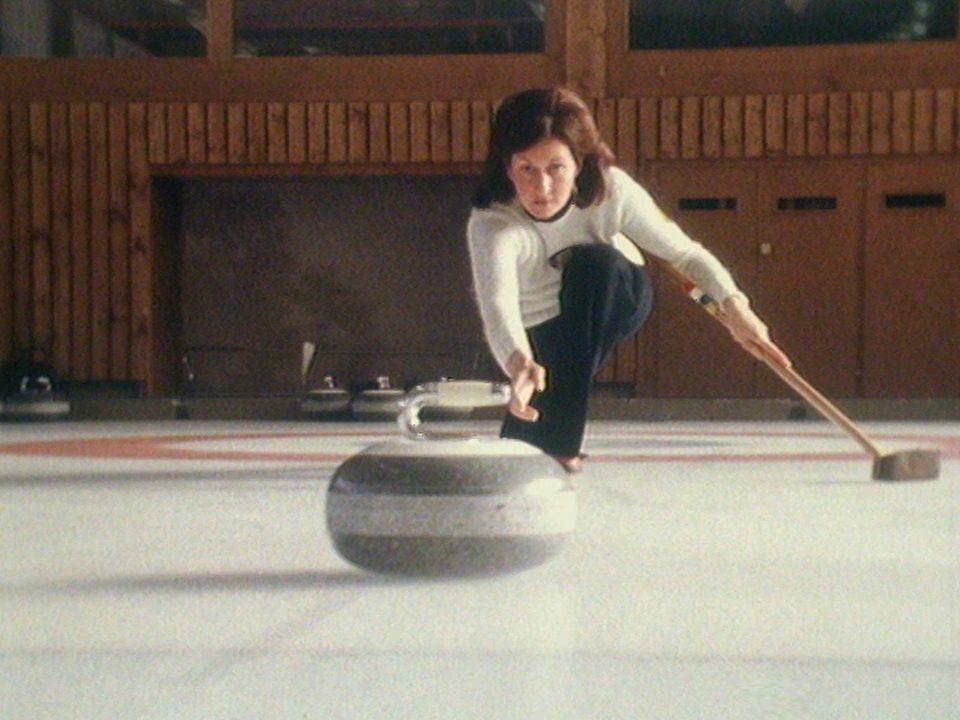 Curling à Champéry en 1976. [RTS]