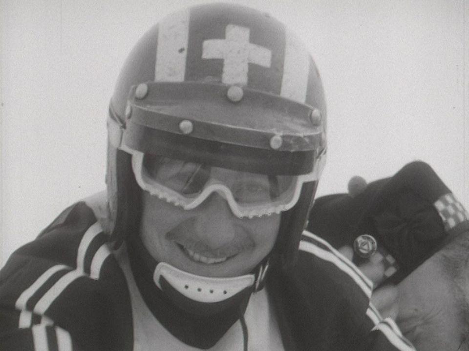 Jo Siffert à skibob en 1969. [RTS]