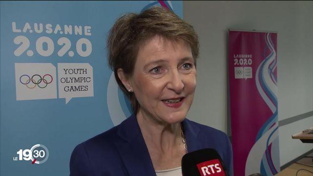 Jour J pour les JOJ à Lausanne: coup d'envoi à 19h45 en présence de la présidente de la Confédération Simonetta Sommaruga. [RTS]