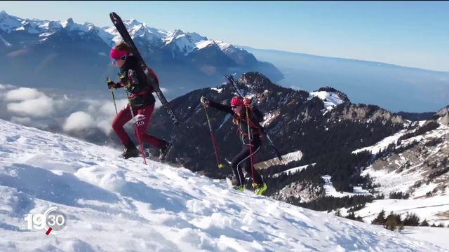 JOJ 2020, les espoirs suisses de médailles dans les épreuves de ski alpinisme. [RTS]