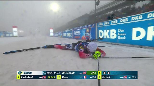 Oberhof (GER), sprint dames: Marte Olsbu Roeiseland (NOR) s'impose [RTS]