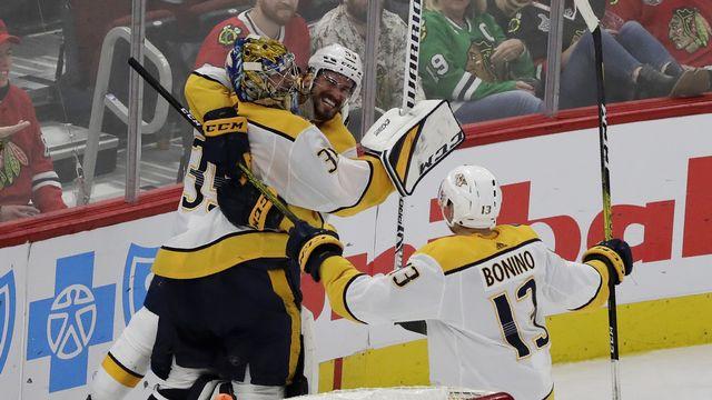 Pekka Rinne a été le héros de la soirée dans les rangs de Nashville. [Nam Y. Huh - Keystone]