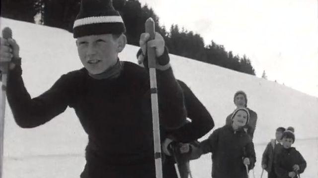 La capitale du ski de fond, la Brévine en 1965. [RTS]