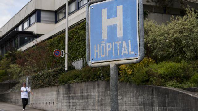Une vue de l'Hôpital du Jura bernois à Moutier (BE). [Jean-Christophe Bott - Keystone]