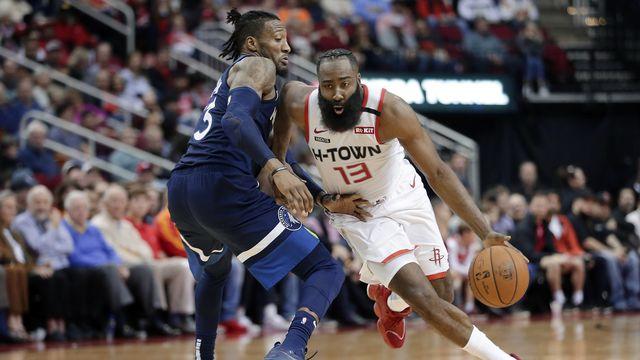 James Harden a pris une part prépondérante dans la démonstration des Rockets contre Minnesota. [Michael Wyke - Keystone]