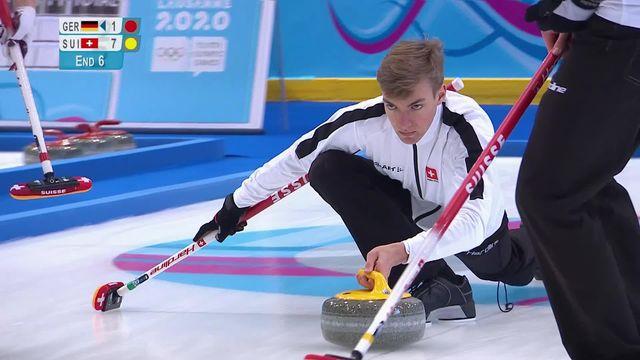 Curling par équipes mixtes, Suisse - Allemagne 7-2: victoire aisée des Suisses [RTS]