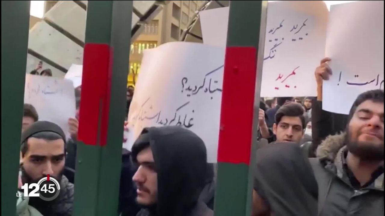 La tension monte à Téhéran après les aveux du régime sur la tragédie du Boeing abattu par erreur par l'armée iranienne. [RTS]