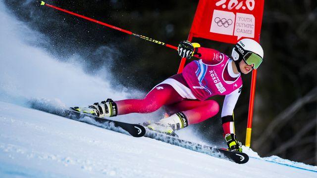 Amélie Klopfenstein n'en finit plus de glaner les médailles aux JOJ 2020. [Jean-Christophe Bott - Keystone]