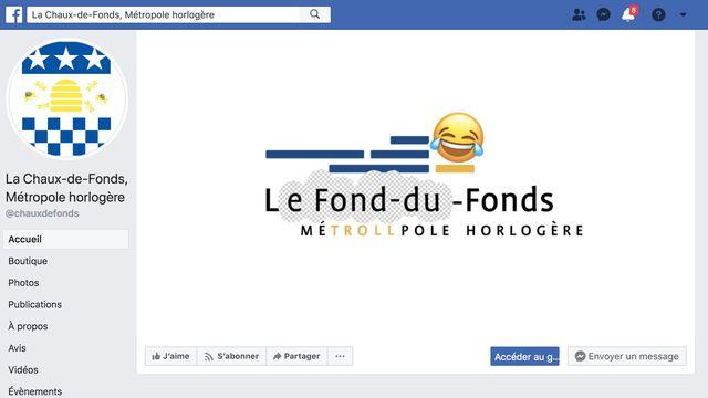 Faux logo pirate de La Chaux-de-Fonds sur Facebook [RTS]