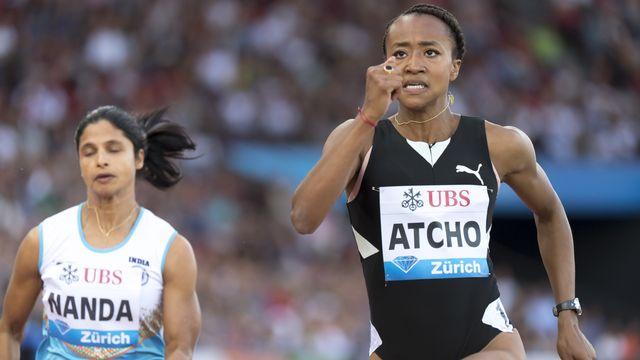 Sarah Atcho, ici en bataille au Weltklasse de Zurich, se retrouve sur le flanc. [Jean-Christophe Bott - Keystone]