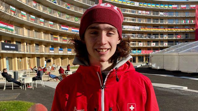 Leni Michellod représente la Suisse au hockey 3 contre 3. [F.Galaud - RTS]