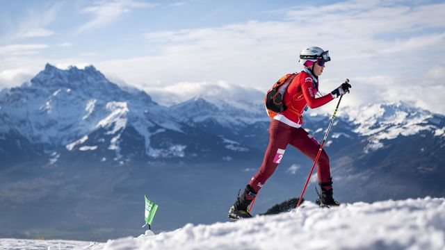 Thibe Deseyn a rejoint l'équipe suisse de ski-alpinisme en 2017. [Gabriel Monnet - Keystone]