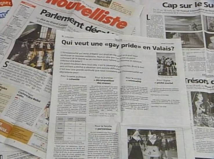 Contre la Gay Pride de Sion
