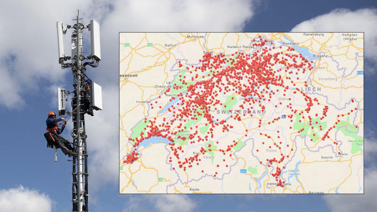 Découvrez où 2000 antennes 5G ont été déployées depuis six mois - rts.ch - Suisse