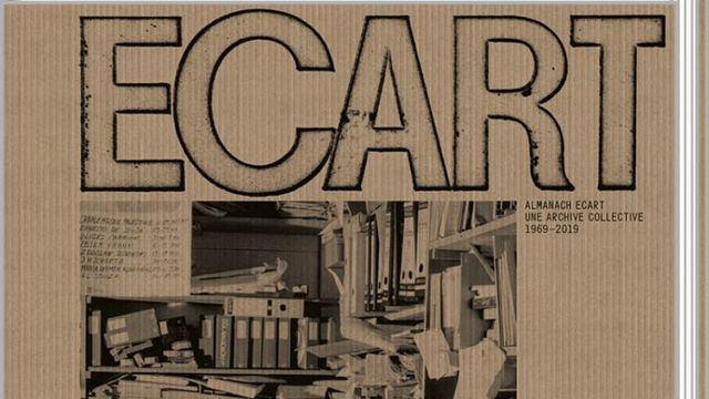 "Couverture de ""Almanach Ecart: une archive collective 1969-2019"". [art&fiction]"