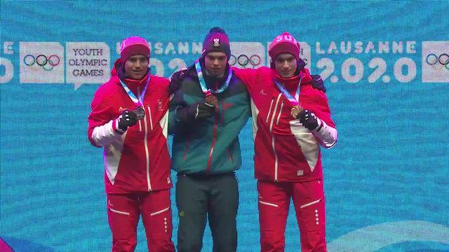 JOJ 2020: remise des médailles à Sandro Zurbruegg et Luc Roduit [RTS]
