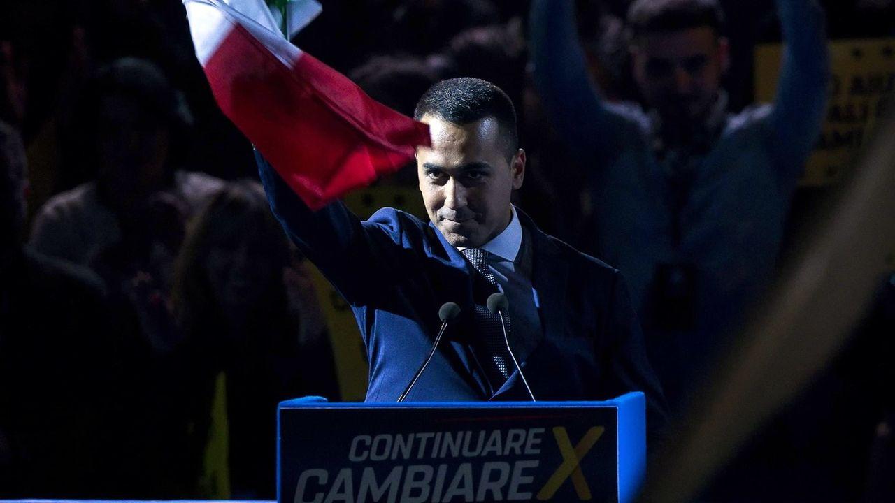 Luigi Di Maio lors d'un rassemblement électoral pour les européennes en mai 2019 à Rome. [Angelo Carconi - Keystone]