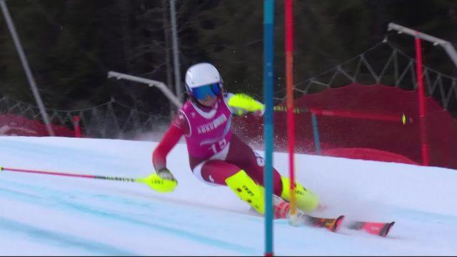Diablerets (SUI), 1re manche slalom dames: Lena Volken (SUI) provisoirement en tête ! [RTS]