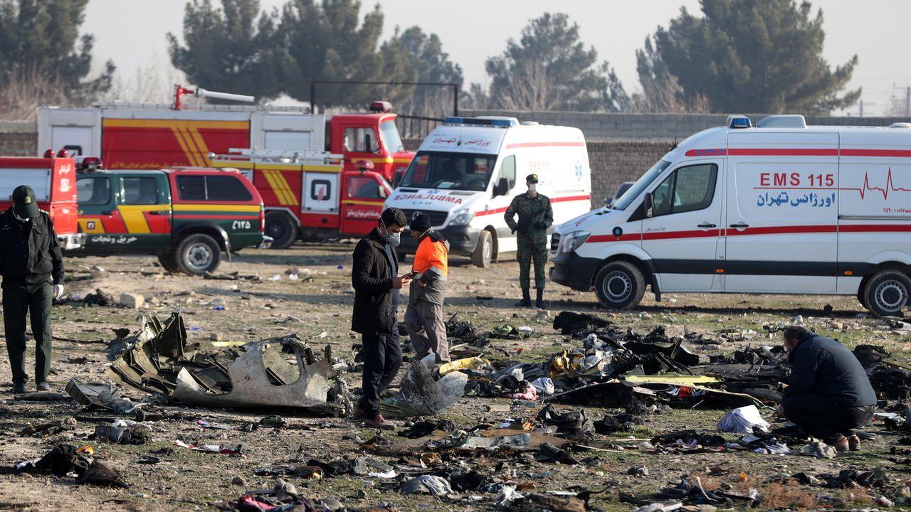L'Iran a annoncé mardi des arrestations après le Boeing abattu par erreur. [Abedin Taherkenareh - EPA]