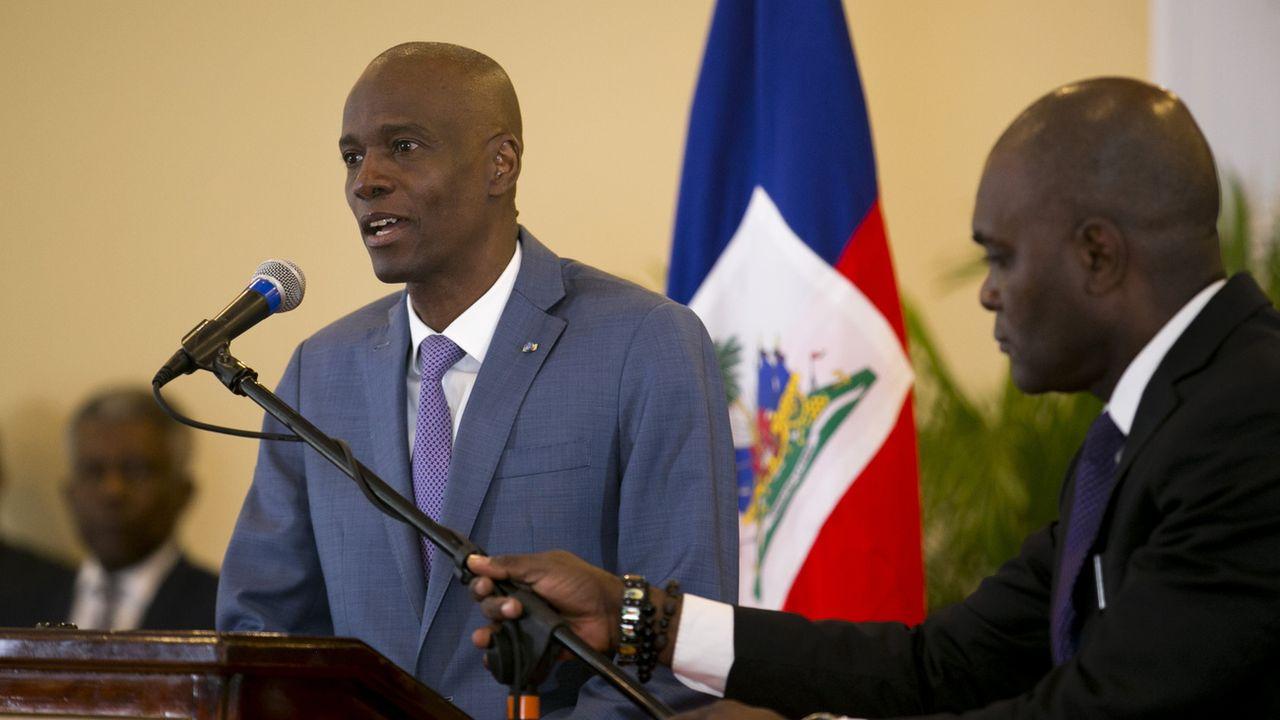 Conférence de presse du président Jovenel Moise en Haïti, pays qui se retrouve sans parlement, le 13 janvier 2020. [Dieu Nalio Chery - AP Photo/Keystone]